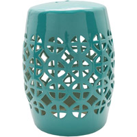 Surya RWY005-131318 Ridgeway Green Stool Home Decor Cylinder Hand Crafted