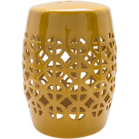 Ridgeway Yellow Stool Home Decor, Cylinder, Hand Crafted