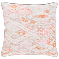 Roxanne 18 X 18 inch Pink and Pink Pillow Cover