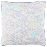 Roxanne 18 X 18 inch Off-White and Purple Pillow Cover
