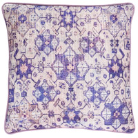 Roxana 20 X 20 inch Pink and Purple Pillow Cover