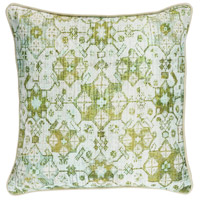 Roxana 20 X 20 inch Green and Green Pillow Cover