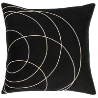 Surya SB036-2020 Solid Bold 20 X 20 inch Black and Off-White Pillow Cover