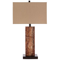Surya SBS-001 Scabbos 150 watt Burnt Orange/Taupe/White/Dark Brown Table Lighting Portable Light