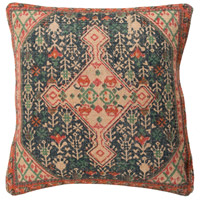 Shadi 18 X 18 inch Khaki and Navy Pillow Cover