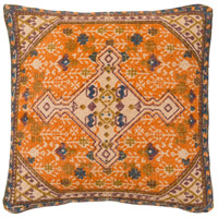Shadi 18 X 18 inch Khaki and Blue Pillow Cover