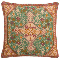 Shadi 18 X 18 inch Khaki and Orange Pillow Cover