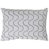 Solid Bold II 19 X 13 inch Grey and Grey Pillow Cover