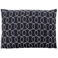 Surya SDB005-1319 Solid Bold II 19 X 13 inch Black and Grey Pillow Cover