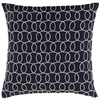 Surya SDB005-1818 Solid Bold II 18 X 18 inch Black and Grey Pillow Cover