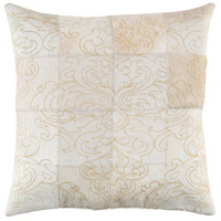 Sophisticate 20 X 20 inch Khaki and Gold Pillow Cover