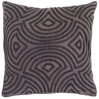Surya SKD005-2020 Skinny Dip 20 X 20 inch Black and Grey Pillow Cover
