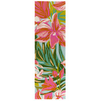 Surya SKE4000-268 Skye 96 X 30 inch Pink and Orange Outdoor Runner, Polypropylene