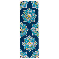 Surya SKE4005-268 Skye 96 X 30 inch Blue and Blue Outdoor Runner, Polypropylene