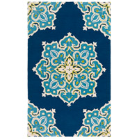Surya SKE4005-23 Skye 36 X 24 inch Blue and Blue Outdoor Area Rug, Polypropylene