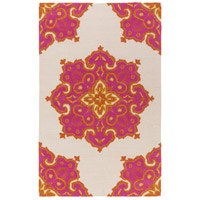Surya SKE4006-576 Skye 90 X 60 inch Orange and Pink Outdoor Area Rug, Polypropylene