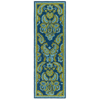 Surya SKE4013-268 Skye 96 X 30 inch Blue and Green Outdoor Runner, Polypropylene