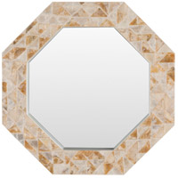 Solomon 28 X 28 inch Tan Wall Mirror Home Decor