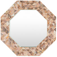 Solomon 28 X 28 inch Brown Wall Mirror Home Decor