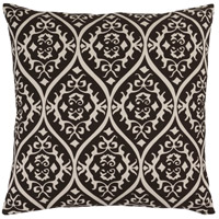 Surya SMS003-2020 Somerset 20 X 20 inch Black and Off-White Pillow Cover