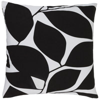 Surya SMS010-2020 Somerset 20 X 20 inch Black and Off-White Pillow Cover