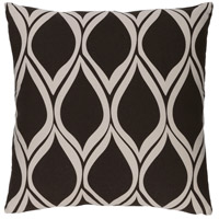 Surya SMS020-2020 Somerset 20 X 20 inch Black and Off-White Pillow Cover