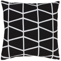 Surya SMS034-2020 Somerset 20 X 20 inch Black and White Pillow Cover