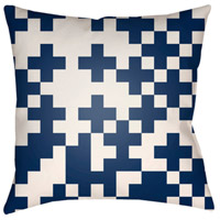 Surya SN001-1818 Scandanavian 18 X 18 inch Navy and White Outdoor Throw Pillow