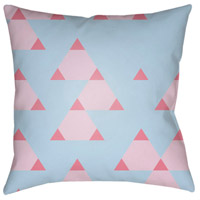 Scandanavian 18 X 18 inch Pink and Pink Outdoor Throw Pillow