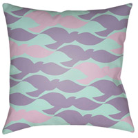 Scandanavian 18 X 18 inch Lavender and Lilac Outdoor Throw Pillow