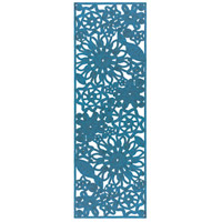 Surya SNB4015-268 Sanibel 96 X 30 inch Blue Outdoor Runner, Polypropylene, Polyester, and Viscose