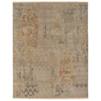Soma 108 X 72 inch Neutral and Brown Area Rug, Wool and Silk