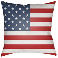 Surya SOL001-2020 Americana 20 X 20 inch Red and Blue Outdoor Throw Pillow alternative photo thumbnail