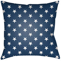 Americana II 20 X 20 inch Blue and White Outdoor Throw Pillow