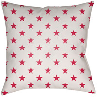 Americana II 20 X 20 inch Red and White Outdoor Throw Pillow
