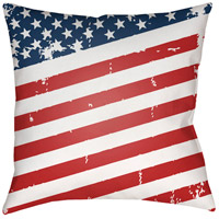 Americana III 20 X 20 inch Red and Blue Outdoor Throw Pillow