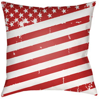 Americana III 20 X 20 inch Red and White Outdoor Throw Pillow