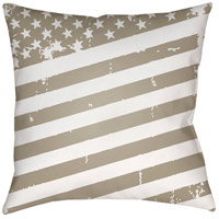 Surya SOL013-2020 Americana III 20 X 20 inch Beige and White Outdoor Throw Pillow photo thumbnail