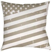 Surya SOL013-2020 Americana III 20 X 20 inch Beige and White Outdoor Throw Pillow alternative photo thumbnail
