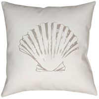 Shells II 20 X 20 inch Green and Brown Outdoor Throw Pillow