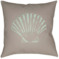 Shells II 20 X 20 inch Brown and Green Outdoor Throw Pillow