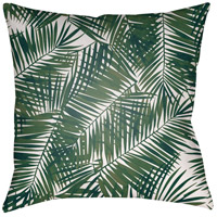 Surya SOL040-2020 Fern Leaf 20 X 20 inch Green and White Outdoor Throw Pillow photo thumbnail