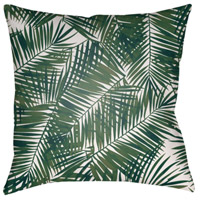 Surya SOL040-2020 Fern Leaf 20 X 20 inch Green and White Outdoor Throw Pillow alternative photo thumbnail