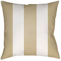 Vineyard 20 X 20 inch Tan and White Outdoor Throw Pillow