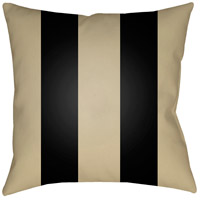 Edgartown 20 X 20 inch Tan and Black Outdoor Throw Pillow