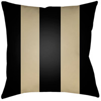 Edgartown 20 X 20 inch Black and Tan Outdoor Throw Pillow