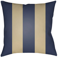 Edgartown 20 X 20 inch Navy and Tan Outdoor Throw Pillow