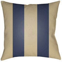 Edgartown 20 X 20 inch Tan and Navy Outdoor Throw Pillow