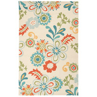 Storm 180 X 144 inch Sky Blue and Burnt Orange Outdoor Area Rug