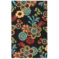 Surya SOM7707-1014 Storm 168 X 120 inch Black and Burnt Orange Outdoor Area Rug photo thumbnail